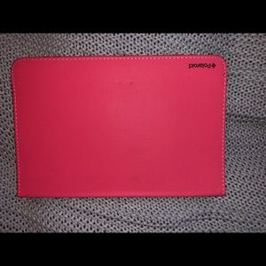 Polaroid hot pink iPad cover